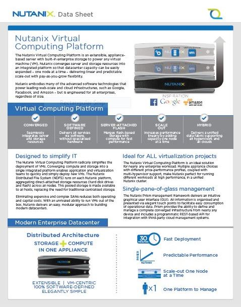 Nutanix Virtual Computing Platform P1