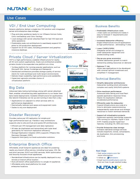 Nutanix Virtual Computing Platform P2